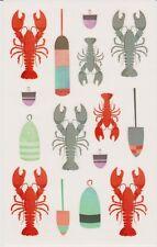Mrs. Grossman's Giant Stickers - Watercolor Lobsters - Boat Buoys - 2 Strips