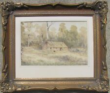 "ARTHUR ESAM AUSTRALIAN FRAMED COLONIAL WC ""PIONEER SETTLERS HOME"" 1897"