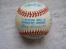 American League Baseball Signed 10 HOF'ers W/ 6 deceased