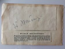 Original Hand Signed Autograph - Witold Malcuzynsyi - Polish Pianist - c1940's