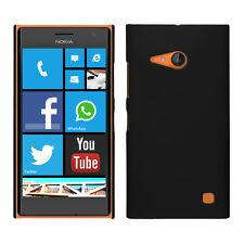kwmobile Gummierte Schutz Hülle für Nokia Lumia 730 735 Schwarz Case Cover Hard