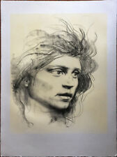 PIETRO ANNIGONI litografia VOLTO 75x55 originale non firmata (da carboncino)