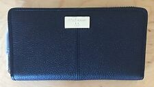 NWT Women's Cole Haan Leather Kiera Continental Zip Around Wallet, Black
