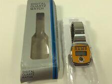Vintage Los Angeles Rams Digital Quartz Watch Original Box Hong Kong Silver Band