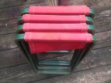 Vintage Coleman Camp Camping Folding stools Seats Chairs Picnic Set of 4