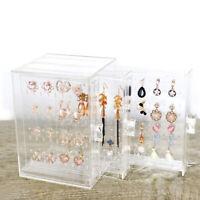 Acrylic Rack Display Stand Holder Jewelry Earrings Storage Box Organizer