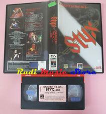 VHS STYX Caught in the act... live 1984 88 MINUTI RCA RVT 10430 cd lp dvd (VM8)