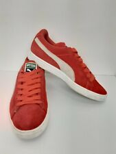 Puma Retro Suede Trainers Shoes Classic Coral Pink Orange Low Top Ladies 5