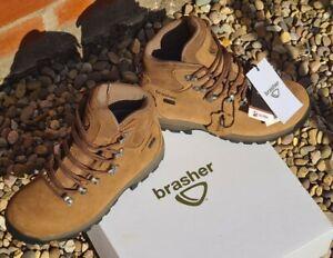BNIB CHRIS BRASHER LADIES HIKING WALKING BOOTS 5 5.5 SOFT BROWN NUBUCK LEATHER 6