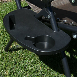 Sunnydaze Cup Holder and Snack Tray Universal Accessory for Zero Gravity Chairs
