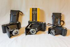 Three Vintage Kodak Folding Film Cameras - Six-20 & Six-16