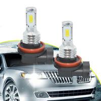 H11 H8 H9 LED Headlights Bulbs Kit High/Low Beam Bright 35W 4000LM 6000K White^2