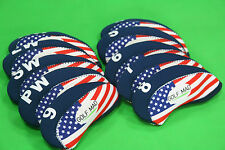 10 Golf Mad Iron Headcovers USA Drapeau pour Ping Titleist Cobra seulement