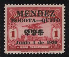Ecuador 1930 1S Carmine Captain Mendez Flight to Quito Sc# C32 mint