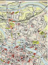Breslau Wrocław 1922 orig. Teil-Stadtplan Nadodrze Ołbin Nowy Targ Grodzka Dom