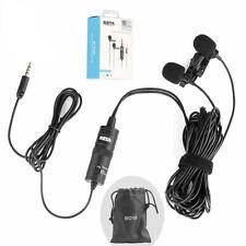 BOYA Dual Omni-directional Lavalier Microphone for Samsung LG Sony Smartphones