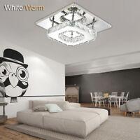 Cristal LED lumière moderne Salon Pendentif place plafond lustre lampe