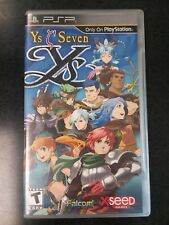 Ys Seven (Sony PSP, 2010) Complete in Box CIB XSEED