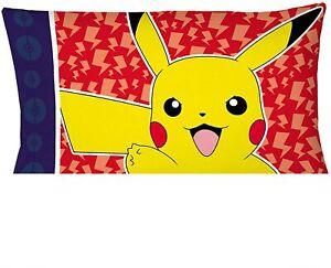 Pokemon Pika Pika Pikachu Reversible Pillowcase for Kids - 20 X 30 Inch -1 Piece