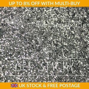 Silver Bling 3D Glitter Wallpaper Fabric Sparkle 53cm SOLD BY THE METRE