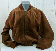 Emporio Armani Brown Leather Jacket Bomber Jacket