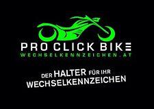 Wechselkennzeichenhalter Pro Click Bike (geeignet für alle Marken z.B. Aprilia)