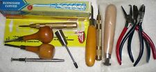 LOT OF JEWELRY MAKING TOOLS - BEZEL PUSHER PLIERS BURNISHER SPRING PUNCH ETC...