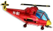 Helicopter Balloon 26 Inch Foil Balloon - Red