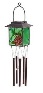 Hummingbird Solar Glass House Wind chime