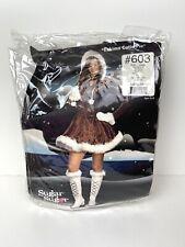 Dreamgirl Womens Large Brown Eskimo Cutie Pie Costume Dress Halloween L
