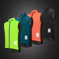 Windproof Cycling Vest MTB Road Bike Sleeveless Jersey Riding Sports Gilet Adult