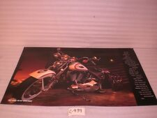 NEW HARLEY OL BOY RED AND WHITE 1997 HERITAGE SPRINGER SOFTAIL POSTER FLSTS