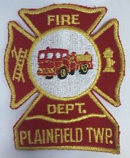 Plainfield Township Fire Department Michigan Shoulder Patch Vintage New MI NOS