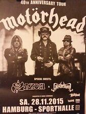 Motörhead  Tourposter / Plakat letzte Tour 2015 Rarität!!!