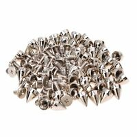 50Pcs Metal Cone Screwback Spikes Stud Leather Cloth Craft Goth Punk Spot TS