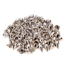 50Pcs Metal Cone Screwback Spikes Stud Leather Cloth Craft Goth Punk Spot TS