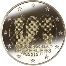 LUXEMBURGO 2012. 2 EUROS CONMEMORATIVOS. BODA REAL GUILLERMO Y STEPHANIE