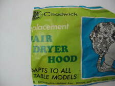 Vintage Chadwick Replacement Hair Dryer Hood  Floral 1974s