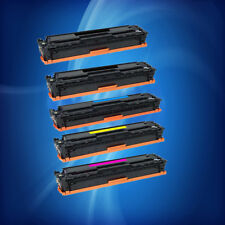 5PK HP 125A CB540A CB541A CB542A CB543A TONER SET FOR CP1215 1515 1815 CM1312