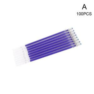 100Pcs Heat Erasable Pen High Temperature Disappearing Fabric Refill Pens U2P0