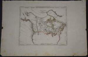 CANADA BRITISH NORTH AMERICA 1820 LUIGI ROSSI UNUSUAL ANTIQUE COPPER ENGRAVEDMAP