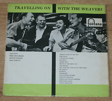 TRAVELLING ON WITH THE WEAVERS 1959  LP RARE UK PRESS FONTANA TFL 6028