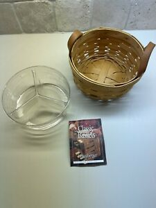 Longaberger Button Basket (2000) with Protective Insert
