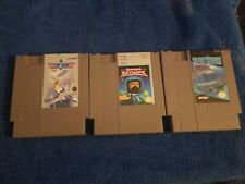 3 nes game lot silent service captain skyhawk top gun