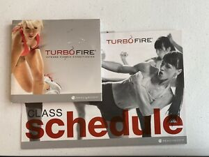 Turbo Fire Intense Cardio Conditioning 5-Disc DVD Set and schedule
