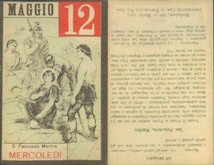 SAN PANCRAZIO ,MARTIRE -ASSOLUTA R@RIT@' SANTINO DI MERCOLEDI 12  MAGGIO 1937
