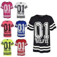 Girls Top Kids Baseball 01 #Selfie Print Desinger Stylish Fashion T Shirt Top