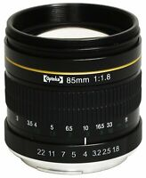 Opteka 85mm Portrait Lens for Nikon D5 D4 D810 D750 D500 D7200 D5500 D5300 D3300