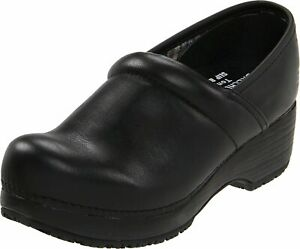 Skechers Womens Comfort Flex Leather Closed Toe Mules, Black, Size 10.0 37Y6