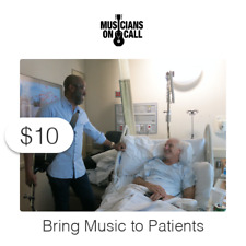 $10 Charitable Donation To Bring Music to Patients and Caregivers